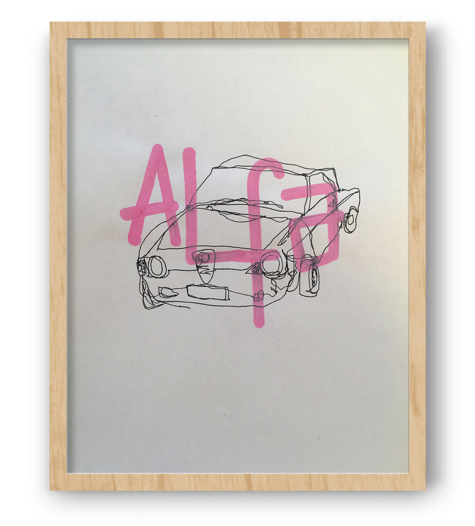 Boliviano | Alfa Romeo GT Junior - Illustration on paper
