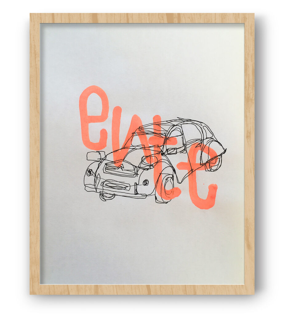 Boliviano | Citroën 2CV - Illustration on paper