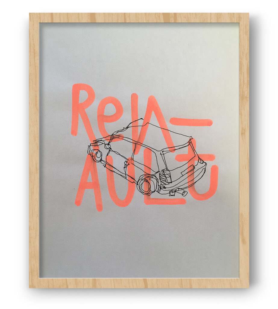 Boliviano | Renault R5 Turbo 2 - Illustration on paper