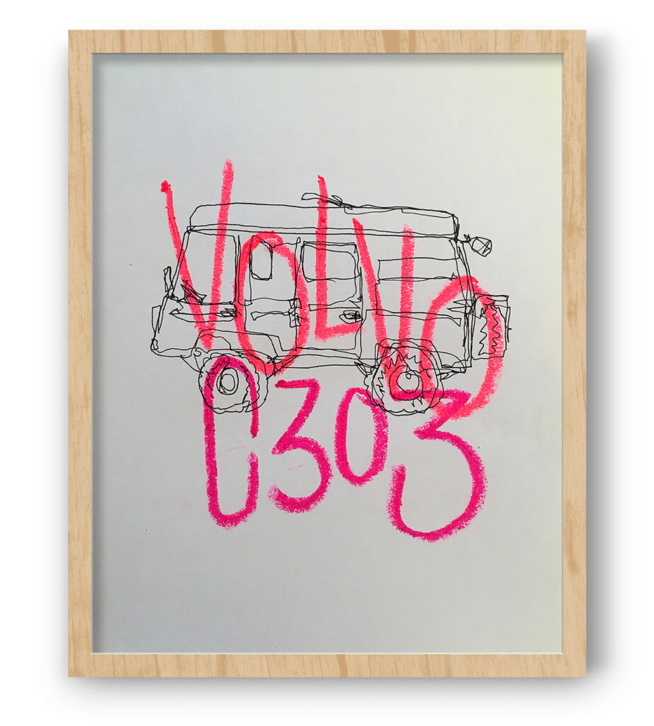 Boliviano | Volvo C303 - Illustration on paper