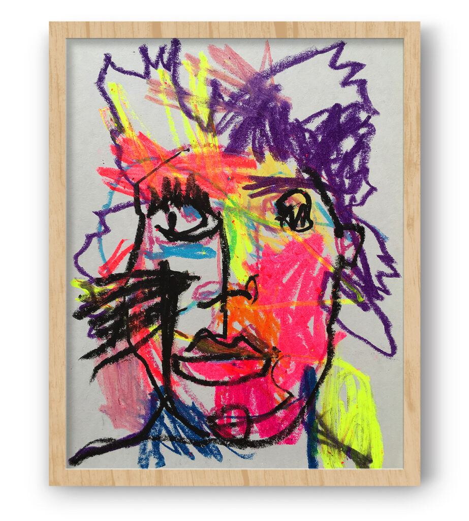 Boliviano | Basquiat - Portrait on paper